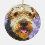 Airedale Christmas Tree Ornaments