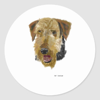 Airedale Classic Round Sticker
