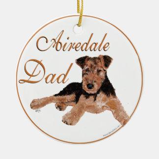 Airedale Dad Ceramic Ornament