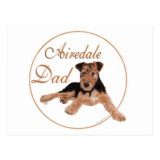 Airedale Dad Postcard