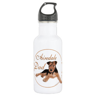Airedale Dad Stainless Steel Water Bottle