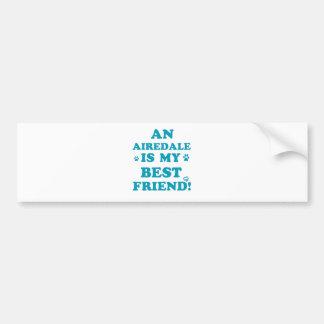 Airedale designs bumper stickers
