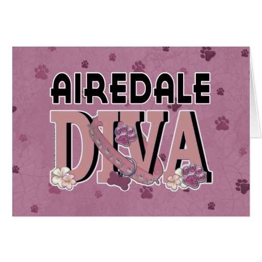 Airedale DIVA Greeting Card