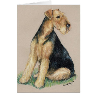 """""""Airedale"""" Dog Art Greeting Card"""