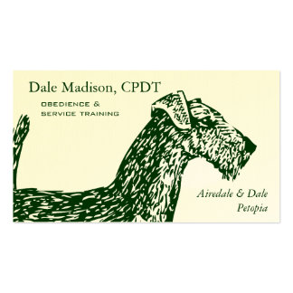 Airedale Dog Business Business Card