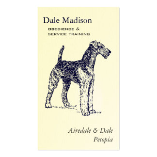 Airedale Dog Business Business Card Template