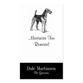 Airedale Dog Business Card