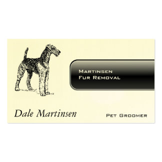 Airedale Dog Business Cards