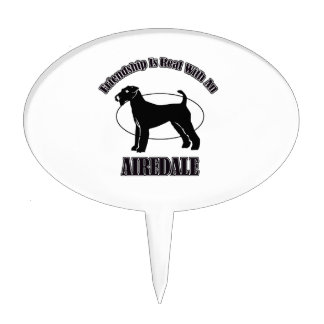 AIREDALE DOG DESIGNS CAKE TOPPERS