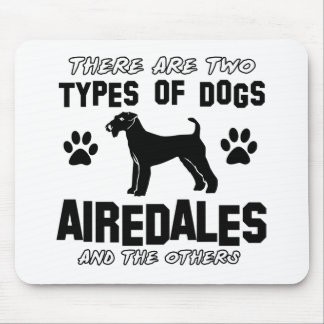 airedale dog designs mouse pads