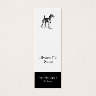 Airedale Dog Mini Business Card