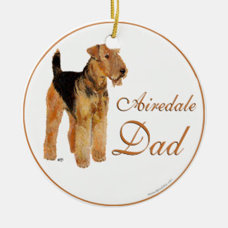 Airedale Father's Day Ceramic Ornament