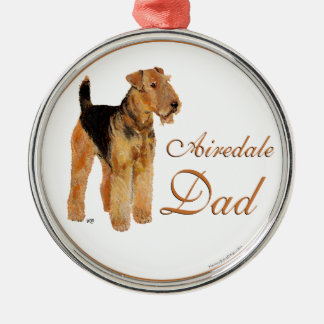 Airedale Father's Day Metal Ornament