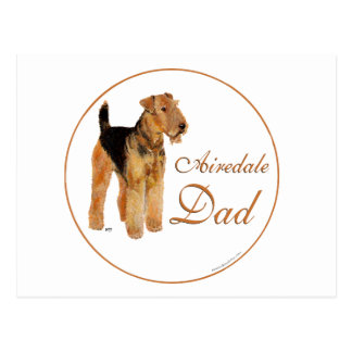 Airedale Father's Day Postcard