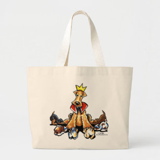 Airedale King of Terriers Canvas Bag