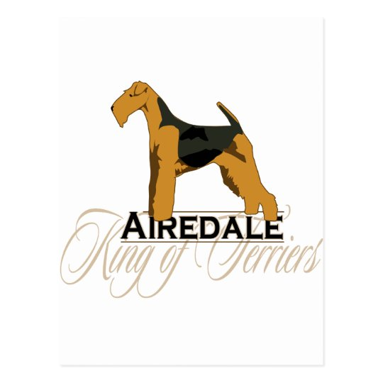 Airedale, King of Terriers, Detailed Postcard