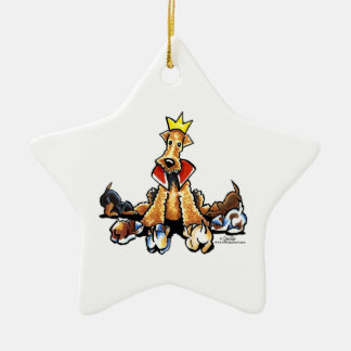 Airedale King of Terriers Ornaments