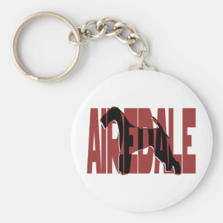 Airedale, King of Terriers, Silhouette Keychain