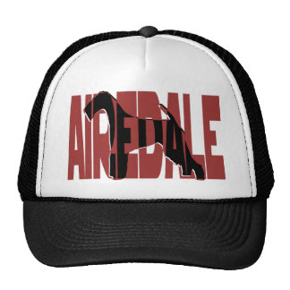 Airedale, King of Terriers, Silhouette Trucker Hat
