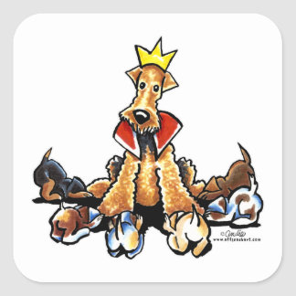 Airedale King of Terriers Sticker