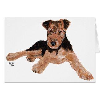 Airedale, Lakeland, perrito de Terrier galés Tarjeta