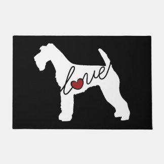 Airedale Love Doormat