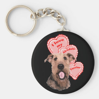 airedale love keychain