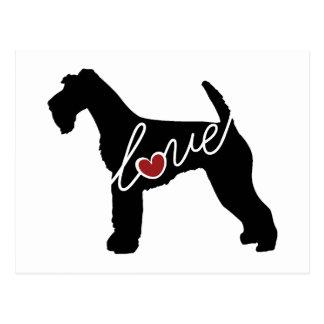 Airedale Love Postcard