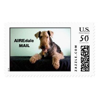 """Airedale Mail Stamp """"AIRE MAIL"""""""