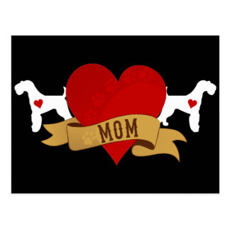 Airedale Mom [Tattoo style] Postcard