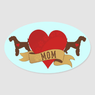 Airedale Mom Tattoo style Stickers