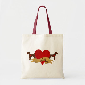 Airedale Mom [Tattoo style] Tote Bag