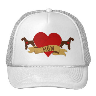 Airedale Mom [Tattoo style] Trucker Hat