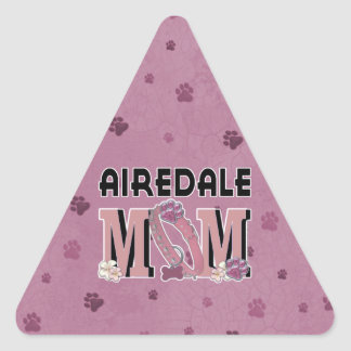 Airedale MOM Triangle Sticker