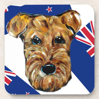 AIREDALE NEW ZEALAND DRINK COASTER
