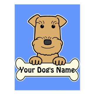 Airedale personalizado Terrier Tarjeta Postal