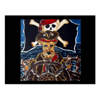 AIREDALE PIRATES POSTCARD