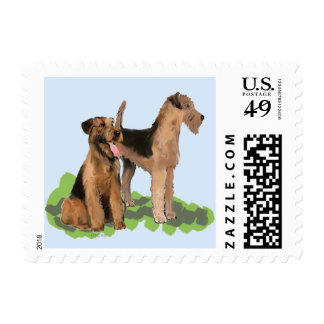 airedale postage stamp