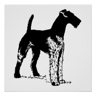 Airedale Print
