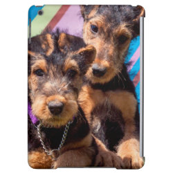 Case Savvy Glossy Finish iPad Air Case with Airedale Terrier Phone Cases design