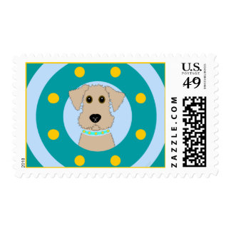 Airedale Puppy Postage