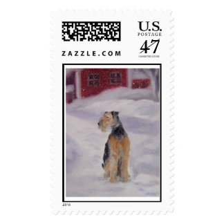 Airedale Stamp
