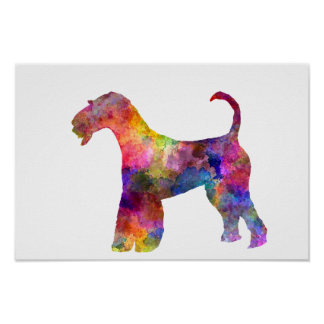 Airedale Terrier 01 in watercolor 2 Poster