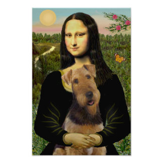 Airedale Terrier (#1) y Mona Lisa Póster