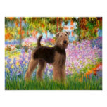 Airedale Terrier  -  (#6Garden) Posters