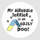 Airedale Terrier Agility Dog Classic Round Sticker