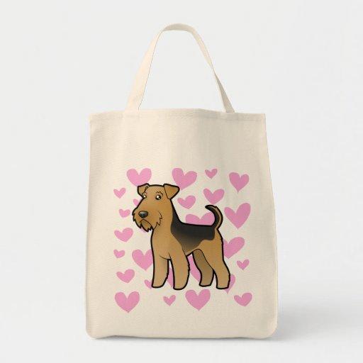 Airedale Terrier/amor de Terrier galés Bolsas De Mano