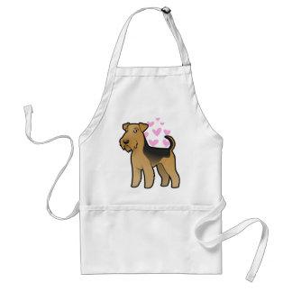 Airedale Terrier/amor de Terrier galés Delantal
