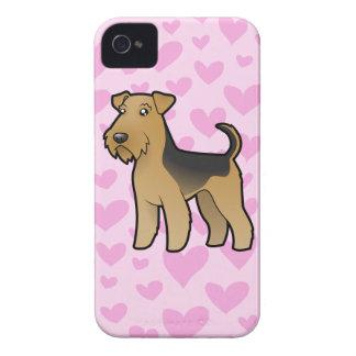 Airedale Terrier/amor de Terrier galés iPhone 4 Case-Mate Carcasas