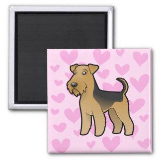 Airedale Terrier/amor de Terrier galés Imán Cuadrado